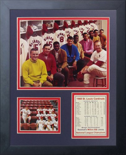 Legends Never Die 1968 St. Louis Cardinals Million Dollar Lineup Framed Photo Collage, 11x14-Inch