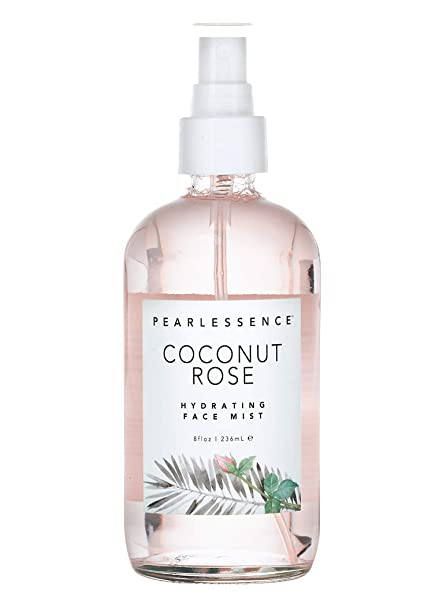 Pearlessence Coconut Rose Hydrating Face Mist, 8 Oz by Pearlessence