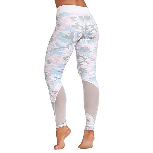 12455ebc61 Minisoya Women High Waist Sports Gym Yoga Pants Running Fitness Camouflage  Leggings Skinny Pencil Tights Athletic