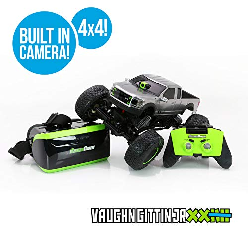 Ford F150 Remote Control Truck - RC CHARGERS Vaughn Gittin Jr. Ford F-150 RTR RC Truck with Camera | 1:12 Scale, VR Headset, FPV, WiFi, 100 Foot Range, Off-Road Capable | 9.6v Battery and Charger Included