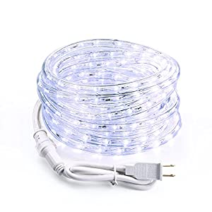 Brizled 18ft 216 LED Outdoor Rope Lights, 120V UL Listed Flexible LED Tube Lights for Holiday, Garden and Patio Decorations, Cool White