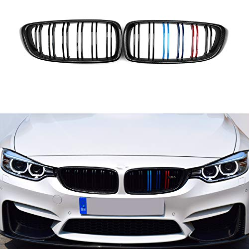 F32 F36 435i 428i F82 F83 M4 F80 M3 Grille Carbon Fiber Front Grill M Color For BMW 2014-IN