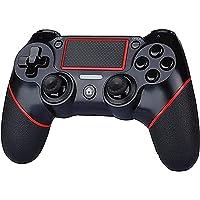 وحدة تحكم لاسلكية بتقنية البلوتوث متوافقة مع PS4، اداة تحكم بالالعاب عن بعد مع عجلة دوارة بمحور دوران حر وتيربو ودوال…