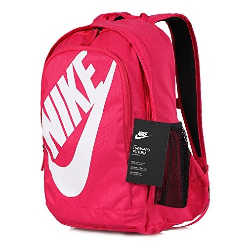 Men's Nike Sportswear Hayward Futura 2.0 Backpack Rush Pink/Black/White Size One - 1 Features Graphic Side