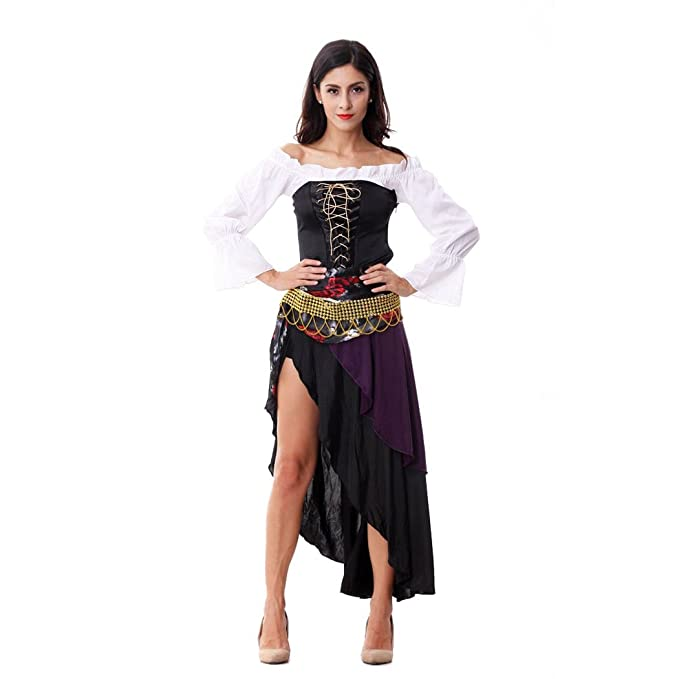 2087a9a99f2 HÖTER Ladies Sexy Captains Treasure Caribbean Pirate Halloween Fancy ...