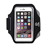 ATOLLA Sports Armband for iPhone 6, Galaxy S6 /S6 Edge / S5, Fashion and Ultra-thin Design Arm band for workouts, Running, cycling, or any fitness activity outside and gym (Black-Upgraded version)