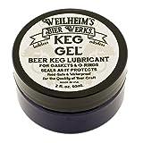 Beer Keg Lube Gel Weilheim's Bier Werks Lubricant for Rubber O Rings Stop Leaks for Maximum Sealing Corny Kegs 2oz
