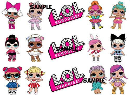 - LOL Dolls Cake Border Side Strips Edible Cake Image Decoration Sugar Sheet