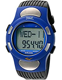 Automatic Plastic and Rubber Fitness Watch, Color:Black (Model: EVWHR001BL)