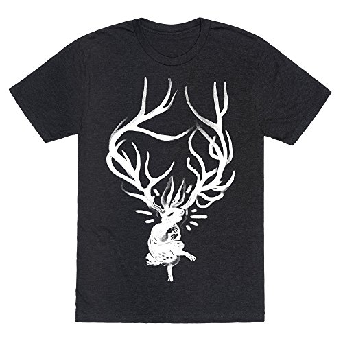 Heathered Black Rockers (A Jackalope's Lullaby Heathered Black Large Mens/Unisex Fitted Triblend Tee by LookHUMAN)