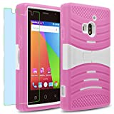 Coolpad ROGUE / 3320A Case, INNOVAA Turbulent Armor Case W/ Free Screen Protector & Touch Screen Stylus Pen - White/Pink