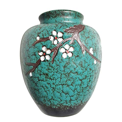 Funeral Urns for Ashes, Cremation Urns for Human Ashes Adult - Ceramics With Manual Relief - Display Burial Urns At Home or in Niche at Columbarium ( Manual Relief, Cherry Blossom Tree of Life
