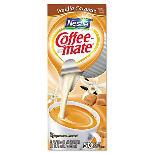 Coffee-mate 79129 Vanilla Caramel Creamer, 0.375oz, 50/Box