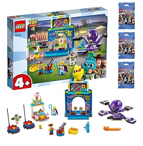 레고 (LEGO) 토이 스토리 4 버즈 & 우디 카니발 매니아 레고 미니 피규어 디즈니 시리즈 3 개 세트