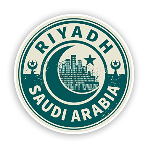 2 x 10cm/100mm Saudi Arabia Riyadh Vinyl Stickers Travel Luggage #7442