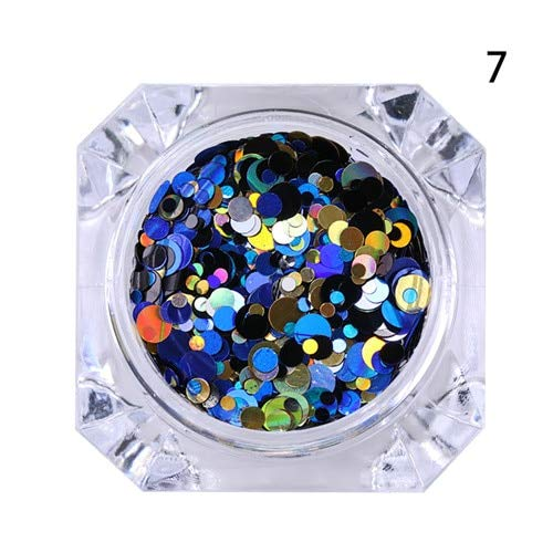 Nail Art Accessories - 1 Box Round Nail Sequins Mixed Size Shape Nail Sequin Flakes Multicolor Paillette Manicure Nail Decoration Nail Art Supplies Nail Jewelry - pattern7 -
