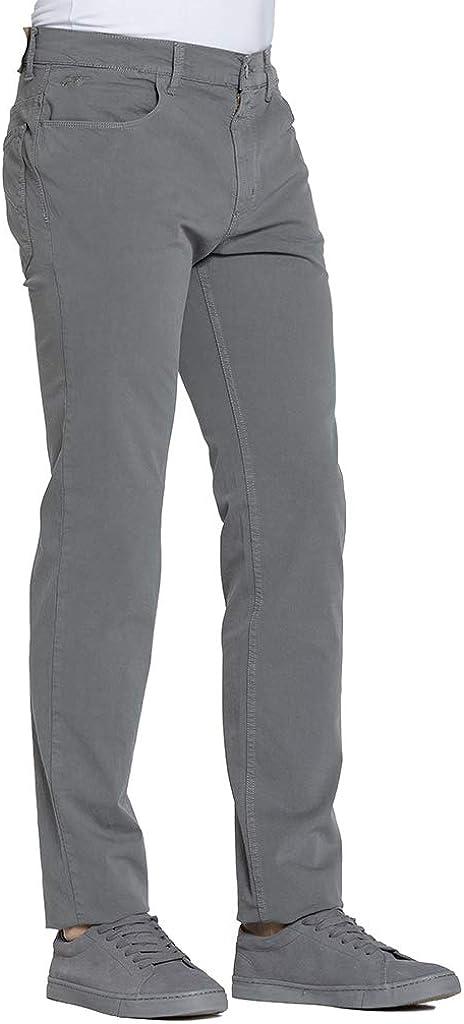 Tinta Unita Pantalone per Uomo Tessuto Gabardina Carrera Jeans