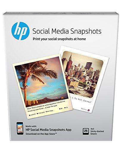 "HP Soft-gloss Photo 4"" x 5"" 25-Count Paper K6B83A"