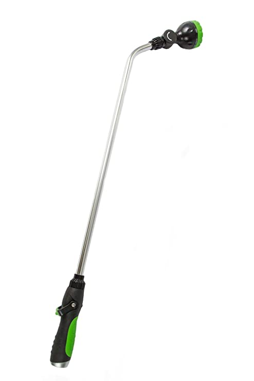 Beautiful Garden Spray Watering Wand For Hose With 7 Nozzle Patterns And Easy Shut  Off Valve For