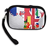 Flag Map Of Colonial Africa 1939 Deluxe Printing Small Purse Portable Receiving Bag