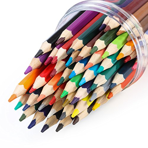 [Colored Pencils, Magicfly Oil Based & Watercolor Pencil Set 48 Assorted Colors Premier Soft Core Drawing Pencils for Adult Coloring] (48 Color Set)