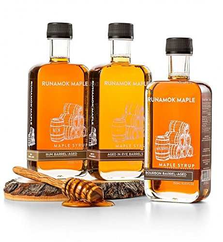 GiftTree Set of Vermont Barrel Aged Maple Syrup | Includes Three Barrel-Aged Maple Syrups From Vermont's Own Runamok and One Olivewood Honey & Syrup Dipper Drizzle Stick | Impressive Gift by GiftTree (Image #2)