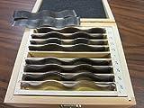 18pcs/set precision wavy steel parallel set #7003-WY
