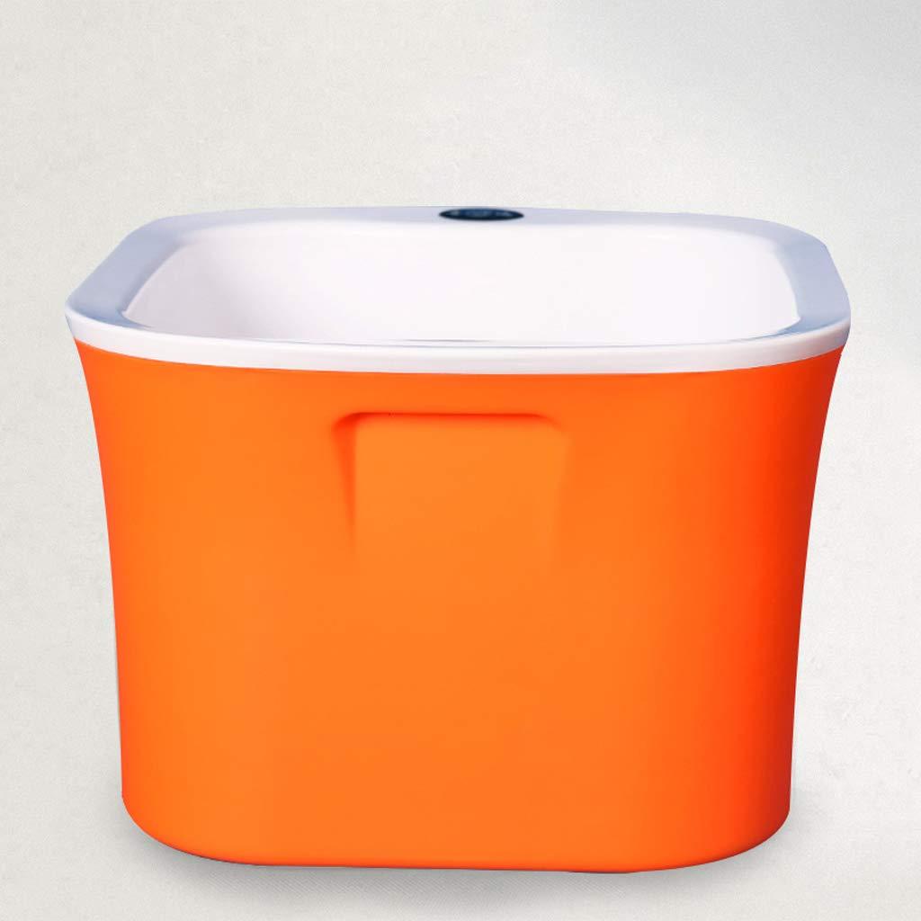 HJBH高品質PPプラスチックフットバス浸漬流域家庭用厚さ3層断熱材サイズ:長さ29CM :*幅27CM*高さ23CM(青/オレンジ/ライトシアン) Orange (色 : (色 青) B07MYKPC5K Orange Orange, 天龍村:d9d9fa6f --- lembahbougenville.com