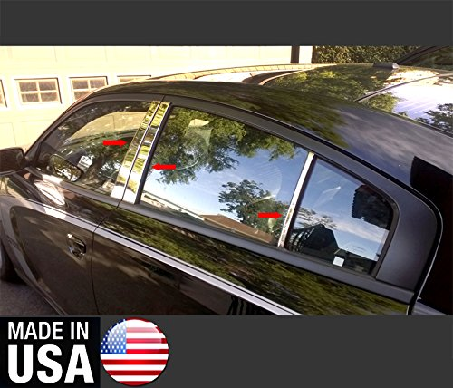 Made In USA! 2011-2017 Dodge Charger 6PC Stainless Steel Chrome Pillar Post Trim (Stainless Dodge Steel Charger Pillar)