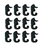 Chesapeake Cast Iron Drawer Pulls Set of 12 Distressed Verdigris Finish Cast Iron Seahorse Drawer Pulls 1.75 X 2.75 X 1.13 Inches Blue