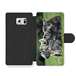 Funny Cute Koalas Hugging Faux Leather case for Samsung Galaxy S6 Edge by icecream design