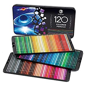SJ STAR-JOY 120 Colored Pencils for Coloring Books, Premier Coloring Pencils Set with Vibrant Color, Perfect Holiday…