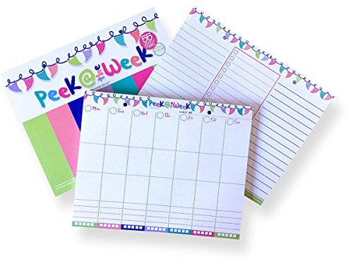Weekly Planner Pad with Daily Vertical Layout and Tear Off to Do Lists, 8