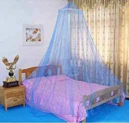 Pesp® Infant Kid Mosquito Net Baby Toddler Sleeping Bed Crib Canopy Netting Soft Breathable Bugs Cots (Blue)
