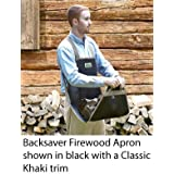 Backsaver Firewood Apron (7-10D) Black with Silver Trim - SHIPS DIRECT FROM OTTAWA SAVING YOU TIME AND MONEY!
