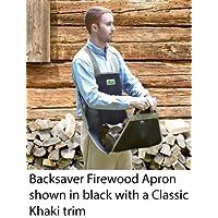 Backsaver Firewood Apron (7-10) Black fabric with Silver Trim