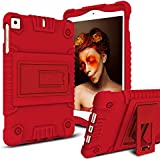 iPad Mini Case, iPad Mini 2 Case, iPad Mini 3 Case, iPad Mini 4 Case, Elegant Choise Soft Shockproof Light Weight Kids Friendly Protective Case with Kickstand for iPad Mini 1/2 / 3/4 (Red)