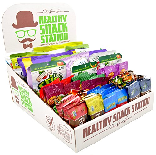 Healthy Snack Station (70 Count) by The Good Grocer - Office Snacks, School Lunches, Variety Pack (Includes Display Box) by The Good Grocer