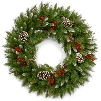 Amazon Com Old Fashion Christmas Door Wreath Home Kitchen