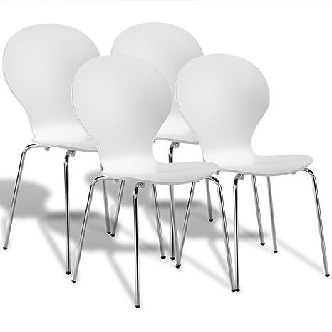 tiauant Sillas de Cocina y Comedor, 4 sillas Mariposas de ...