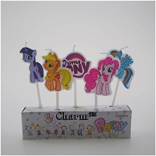 Pony Set of 5 Birthday Candles (generic) Kids Party Decorations by CharmTM