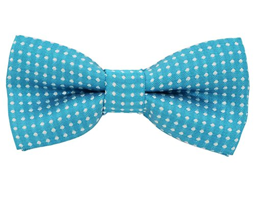 - Colorful Polka Dots Bow Tie,Adjustable Bowtie Fashion Accessories for Pet Dog Cat (blue)