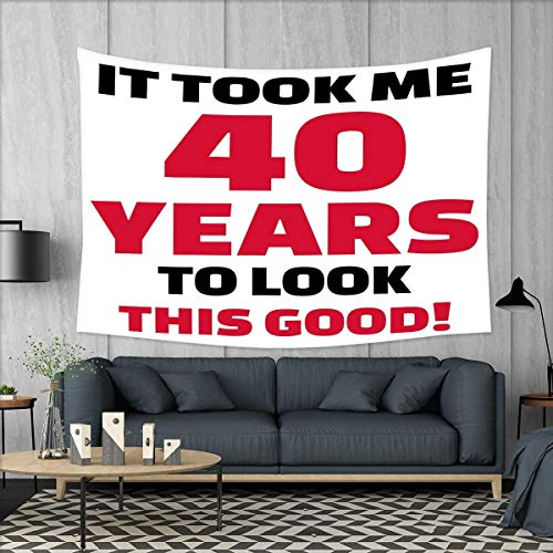 smallbeefly 40th Birthday Customed Widened Tapestry Forty Years