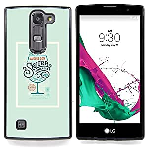- Drink Poster Cocktail Green Wine - - Snap-On Rugged Hard Cover Case Funny HouseFOR LG Volt 2 / LG G4 Mini (G4c)