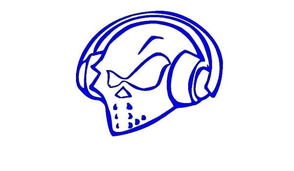Ufo DJ-Pegatinas Prespaziato-color azul-20 cm: Amazon.es: Coche y moto