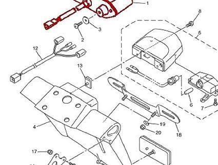 Amazon Com Motocycle Led Integrated Rear Running Tail Stop Brake