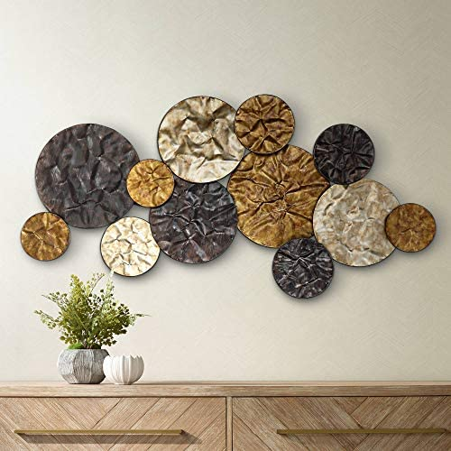 Newhill Designs Metallic Cluster 42 Wide Metal Wall Art