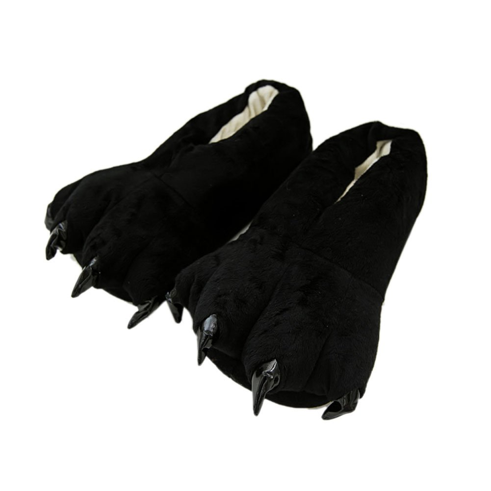 a240418d2265 Amazon.com | Mlotus Novelty Black Claw Shoes Animal Bear Paw Slippers for  Women Men Kids Unisex | Slippers