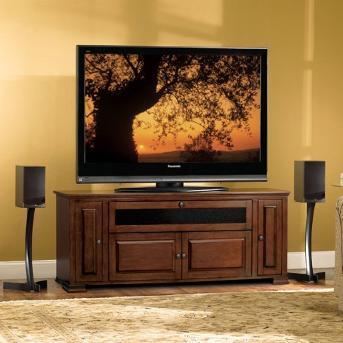 Bell'O PR33 Espresso Finished Audio Video Cabinet for 32-65 Inch Dark Brown
