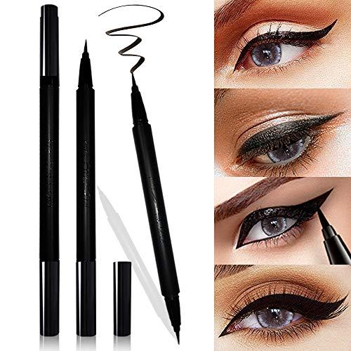 Mesaidu 2-in-1 Eye Makeup Super Slim, Long Lasting, Waterproof, Liquid Eyeliner (Black)
